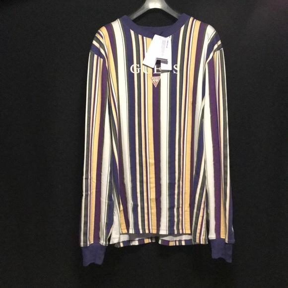 89b2996bdf Guess Shirts | Nwt Ashton Vertical Stripe Ls | Poshmark